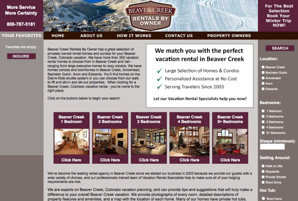 Beaver Creek Rentals by owner